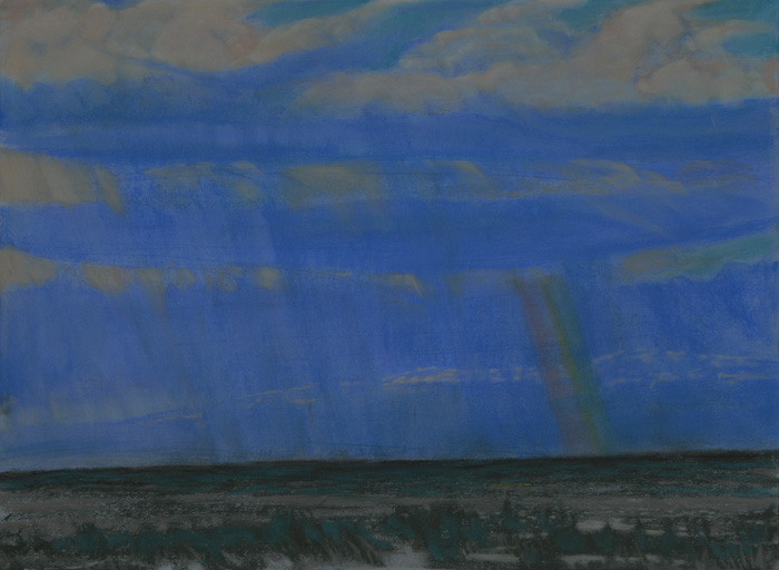 drawing titled Sky Over Steens Mountain,One