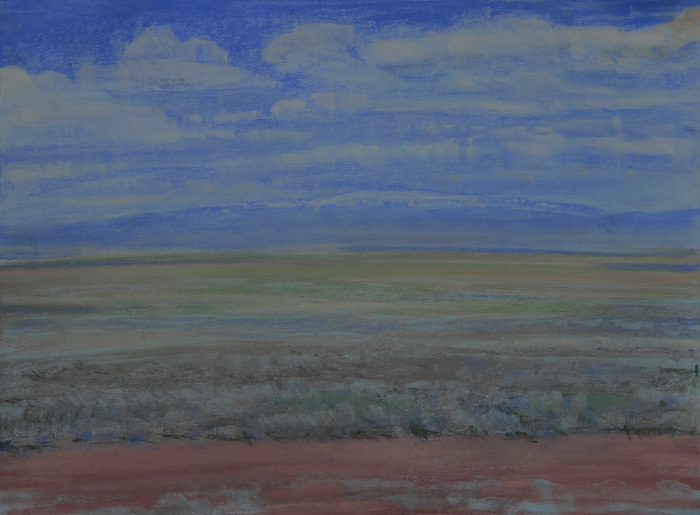 drawing titled Sky Over Steens Mountain,Three
