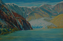 painting titled Approaching Sawyer Glacier Oil Painting