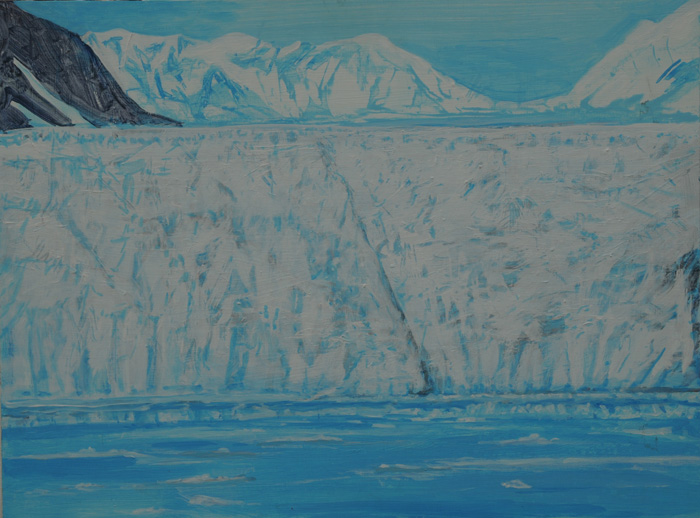 painting titled Ice Wall, Prince William Sound, Alaska