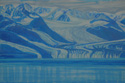 painting titled Glacier, Prince William Sound, Alaska
