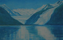 painting titled Two Glaciers, Prince William Sound, Alaska