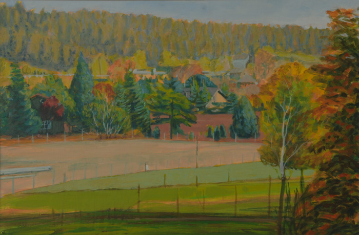 painting titled East View Over Pasture,October