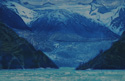 etching titled South Sawyer Glacier, Tracy Arm, Alaska