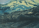 etching titled Elliot Glacier, Mount Hood