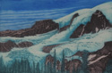 etching titled Glacier, Mount Rainier